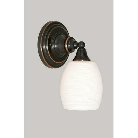 Toltec Lighting-40-BC-615-One Light Black Copper Wall Sconce  Black