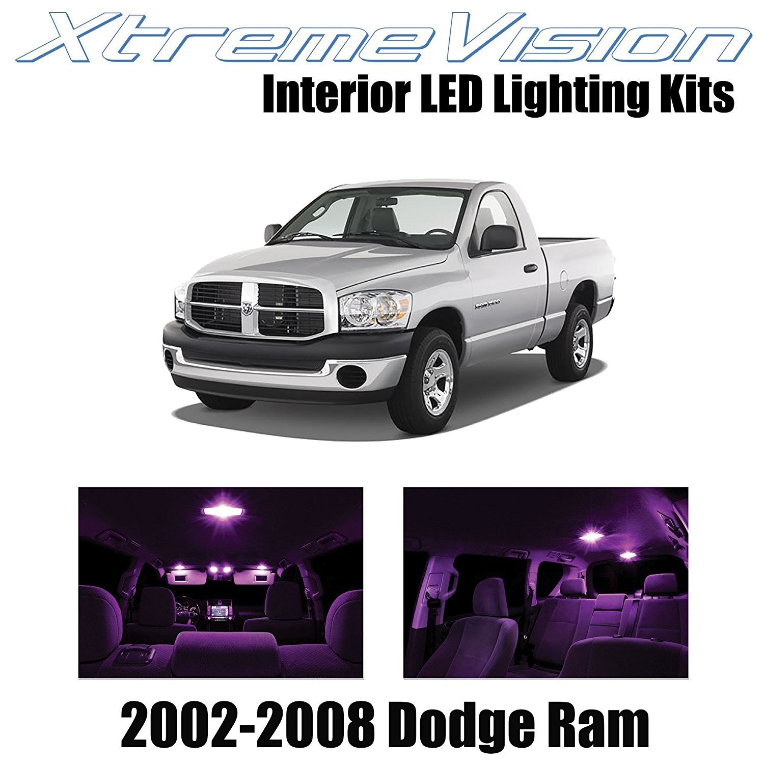 XtremeVision LED for Dodge Ram 2002-2008 (10 Pieces) Pink Premium Interior LED Kit Package + Installation Tool