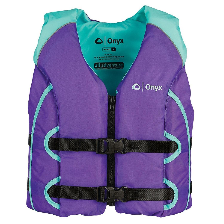 Onyx All Adventure Youth Vest - Aqua/Purple