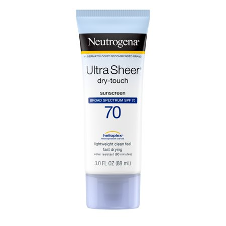 Neutrogena Sunblock Ultra Sheer Dry-Touch SPF 70 - 3 (Best Water Resistant Sunscreen)