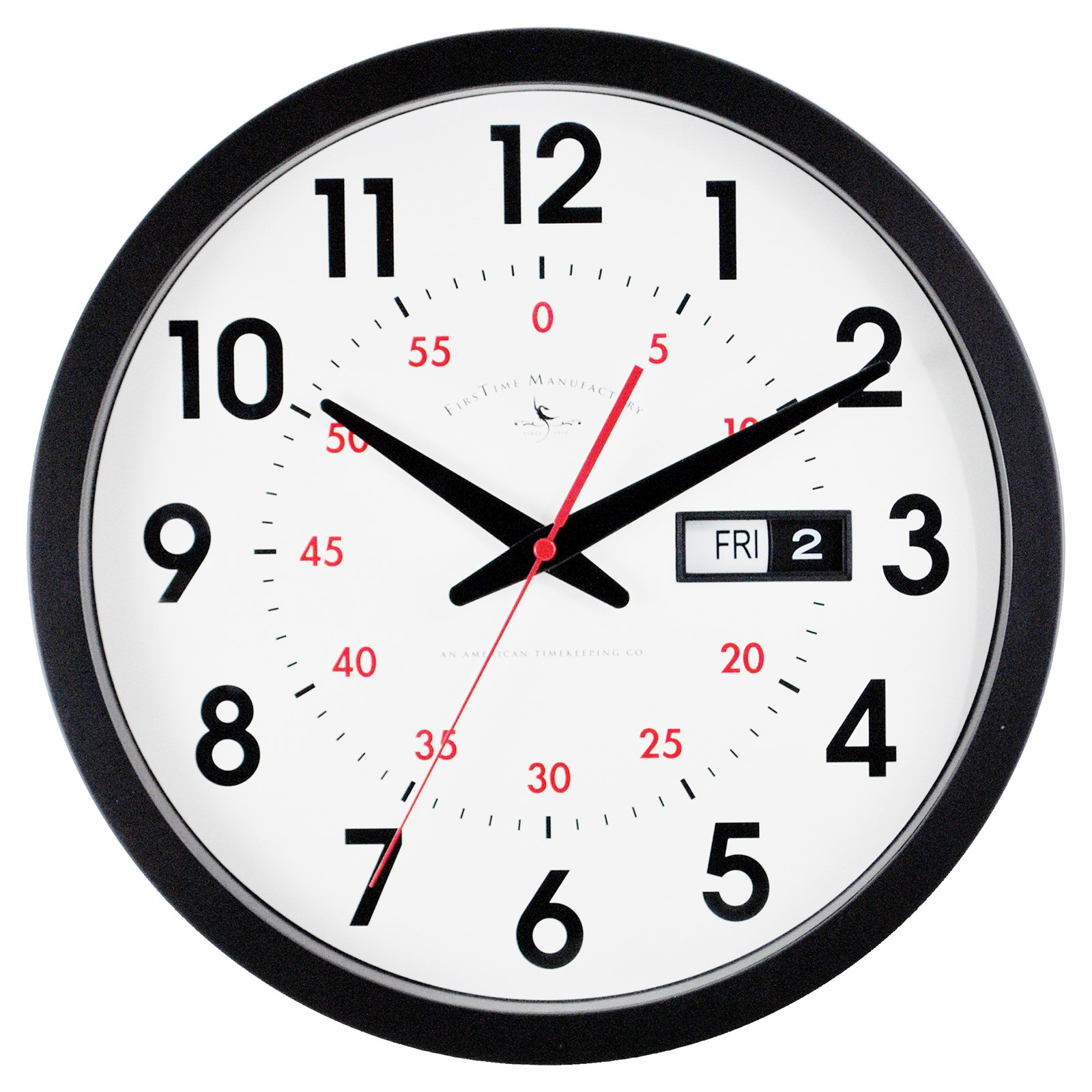 FirsTime Day Date Wall Clock