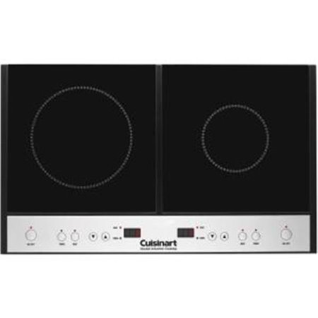 Conair-Cuisinart  Double Induction Cooktop, Black (Slide In Induction Range With Double Oven)