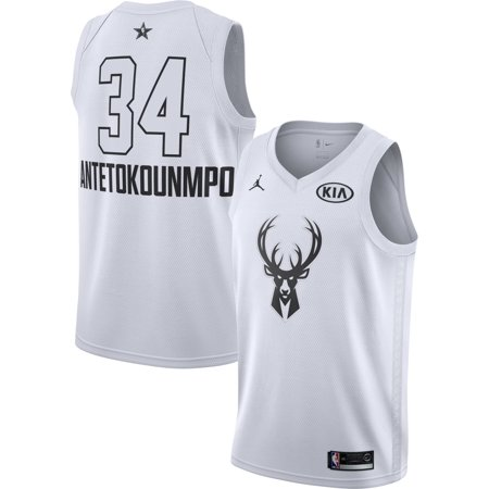 info for b5b7a 7d73a Jordan Men's 2018 NBA All-Star Game Giannis Antetokounmpo White Dri-FIT  Swingman Jersey
