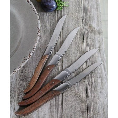 French Home  Set of 4 Laguiole Connoisseur Rosewood Steak Knives