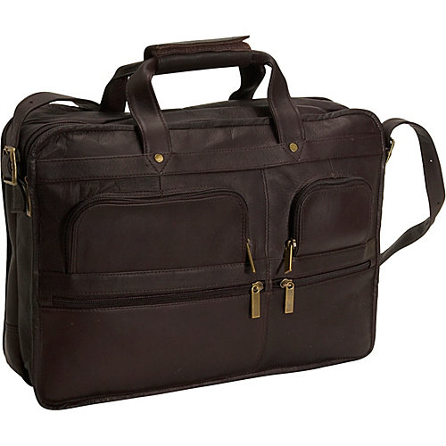 David King Organizer Leather Briefcase
