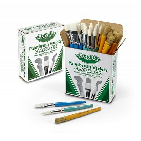 Crayola Paint Brush Classpack, Variety Pack, Painting Supplies, 36 - Online Craft Supplies