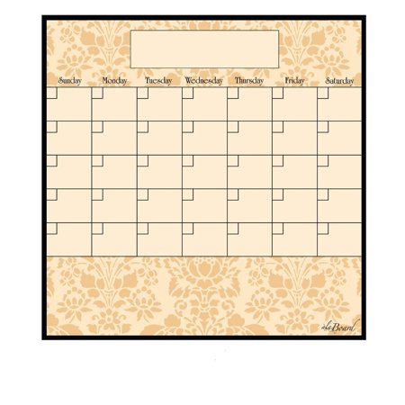 AlaBoard Wheat Magnetic Dry Erase Monthly Calendar
