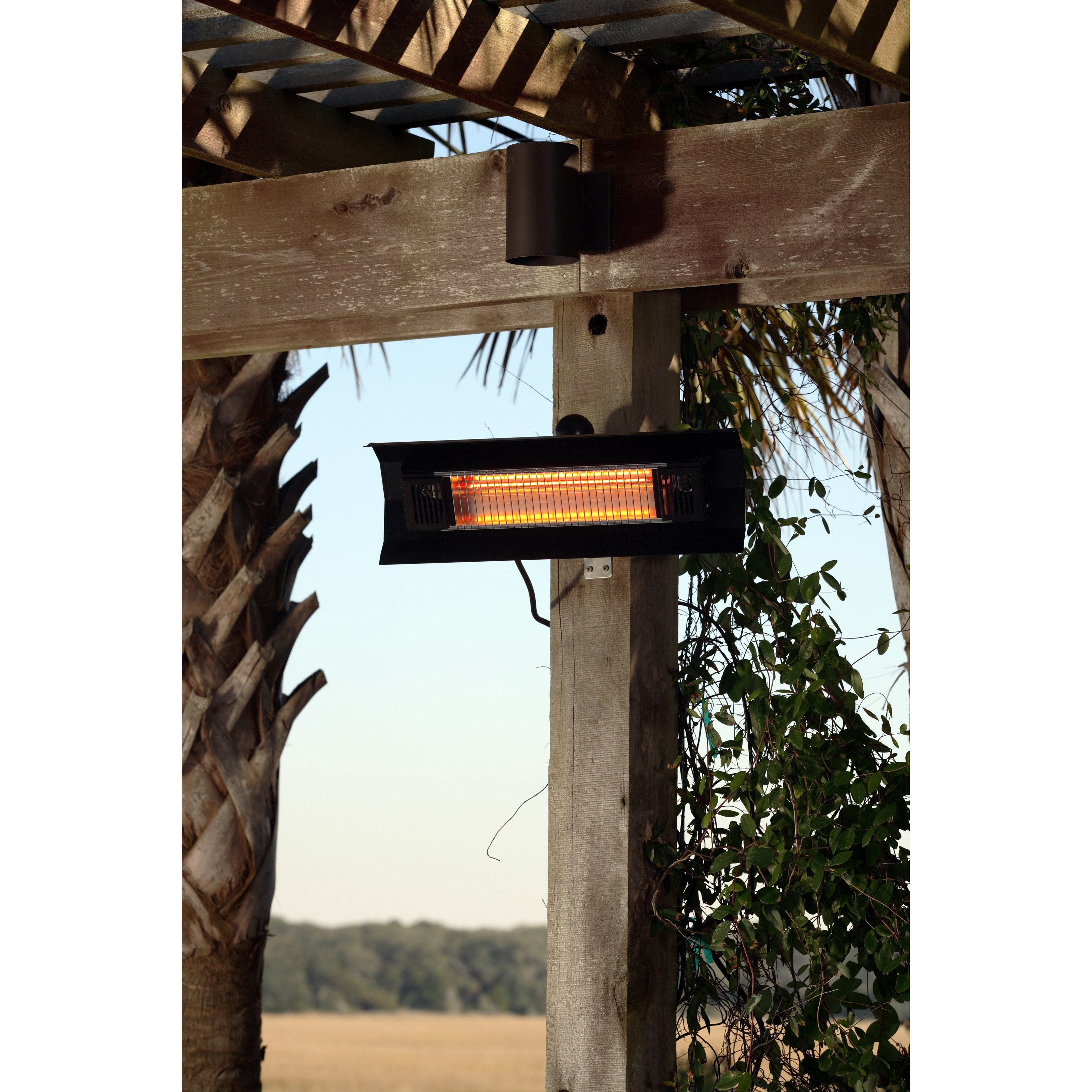 Steel Wall Mounted Infrared Patio Heater-Finish:Black