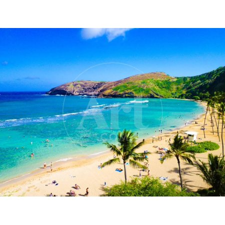 Hanauma Bay, the Best Place for Snorkeling in Oahu,Hawaii Print Wall Art By (Best Place To Snorkel In St Thomas)