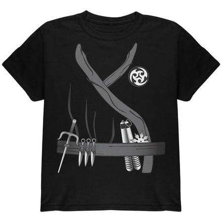 Halloween Ninja Assassin Costume Youth T Shirt - Woman Assassin Halloween Costume