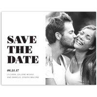 Modern Wedding Save the Date Postcard