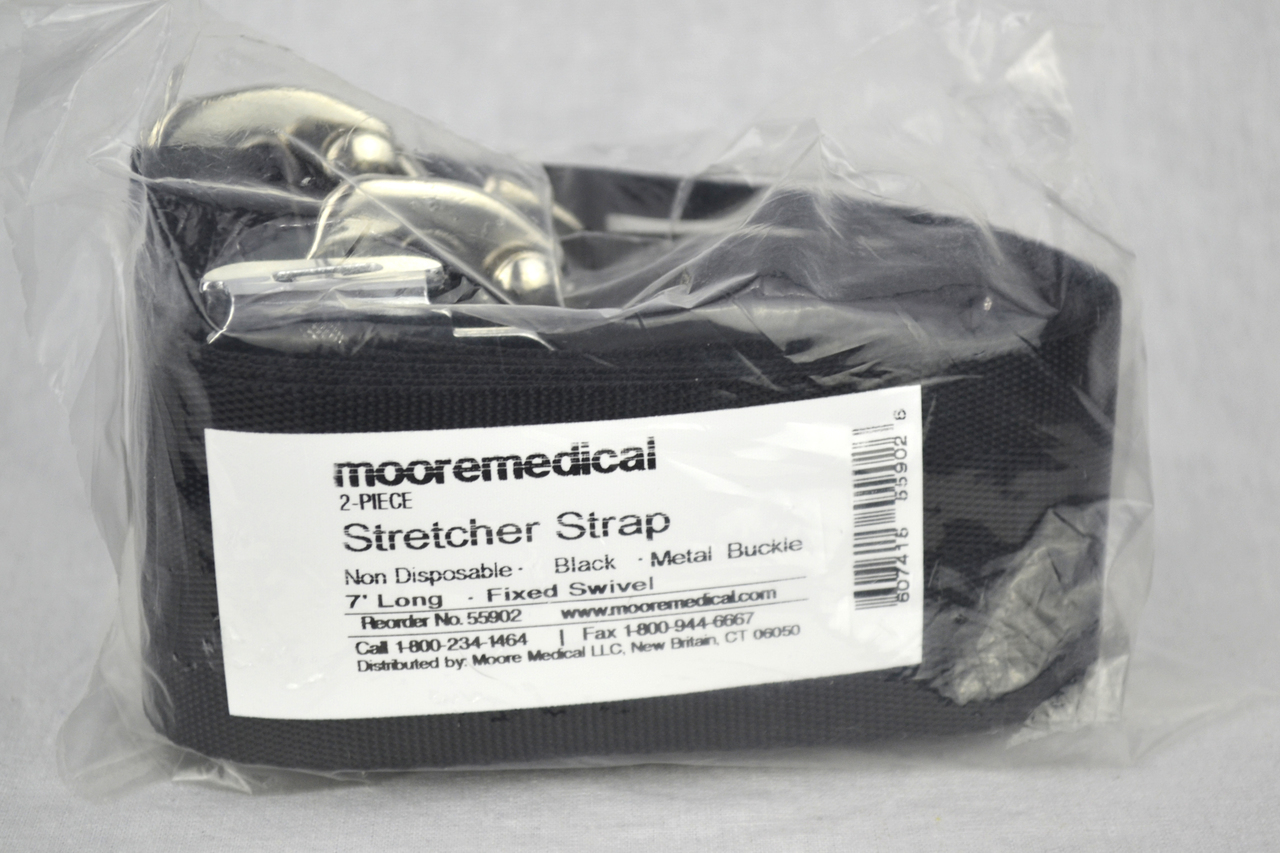 Each Moore Medical Stretcher//backboard Straps Disposable 5 2-piece White