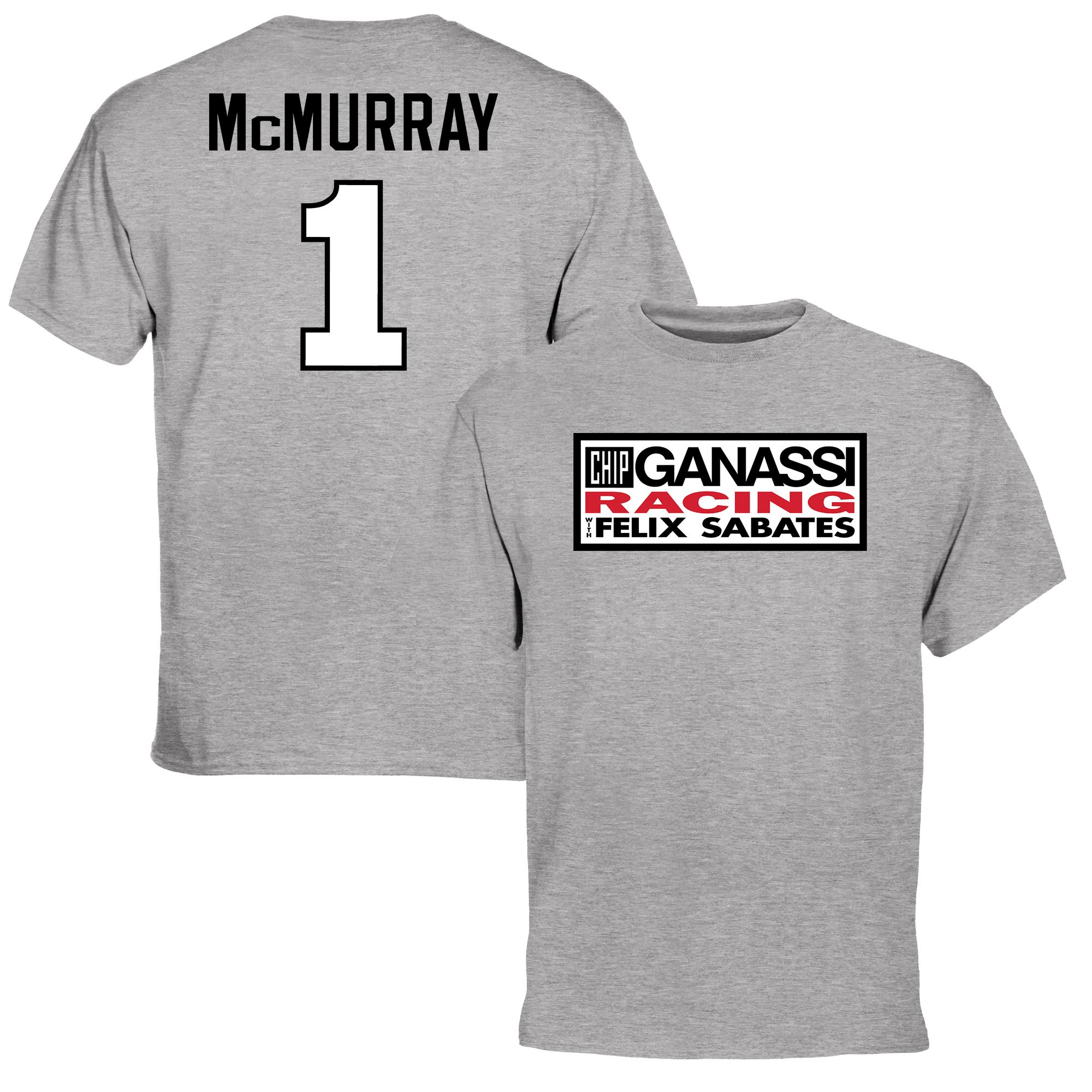 Jamie McMurray Driver Name & Number T-Shirt - Ash