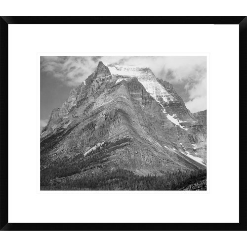 Global Gallery 'Going-To-The-Sun Mountain, Glacier National Park, Montana - 1941' by Ansel Adams Framed Photographic Print