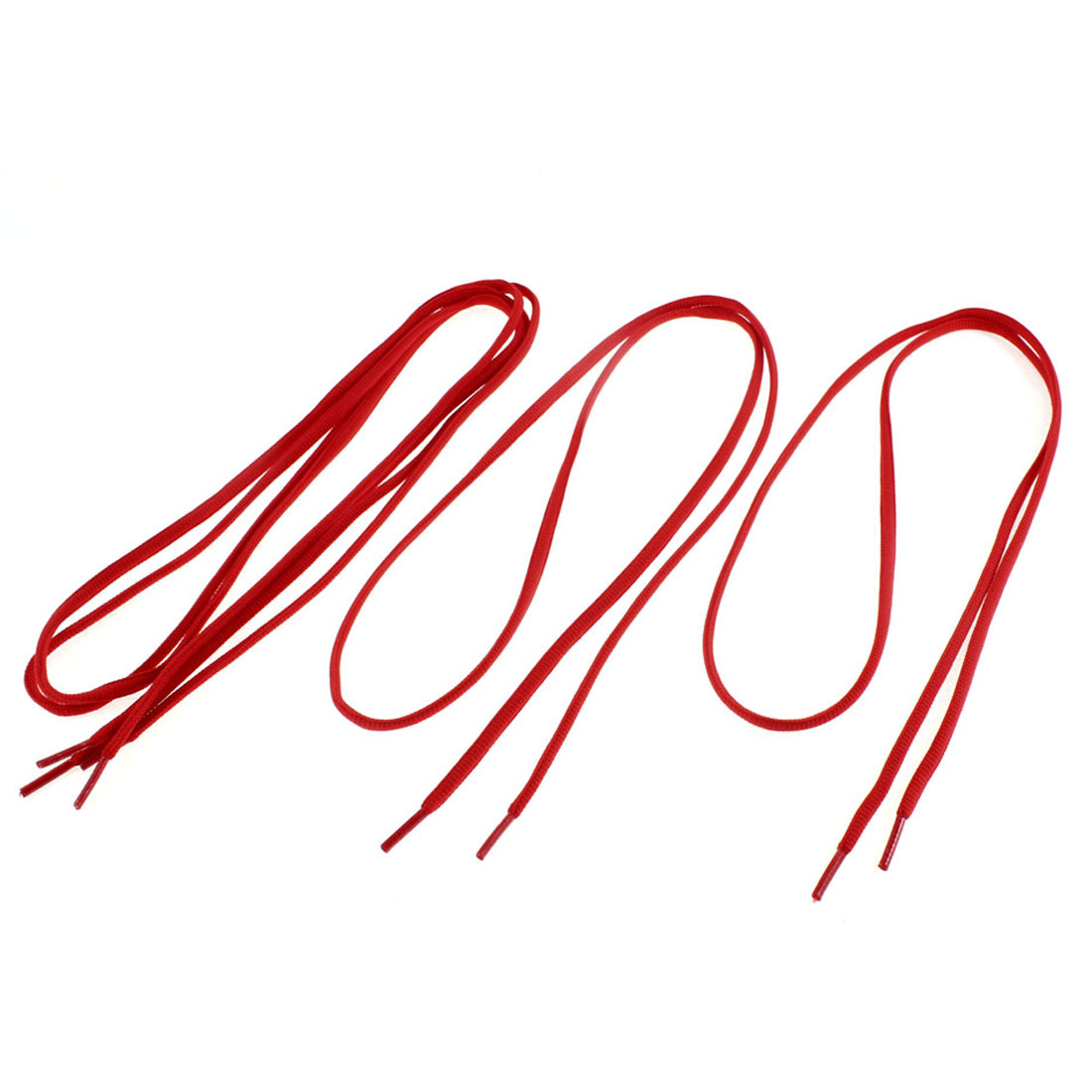 Unique Bargains Cotton Blends Round Sports Shoes Shoelaces String 112cm Length Red 2 Pairs - image 2 of 2