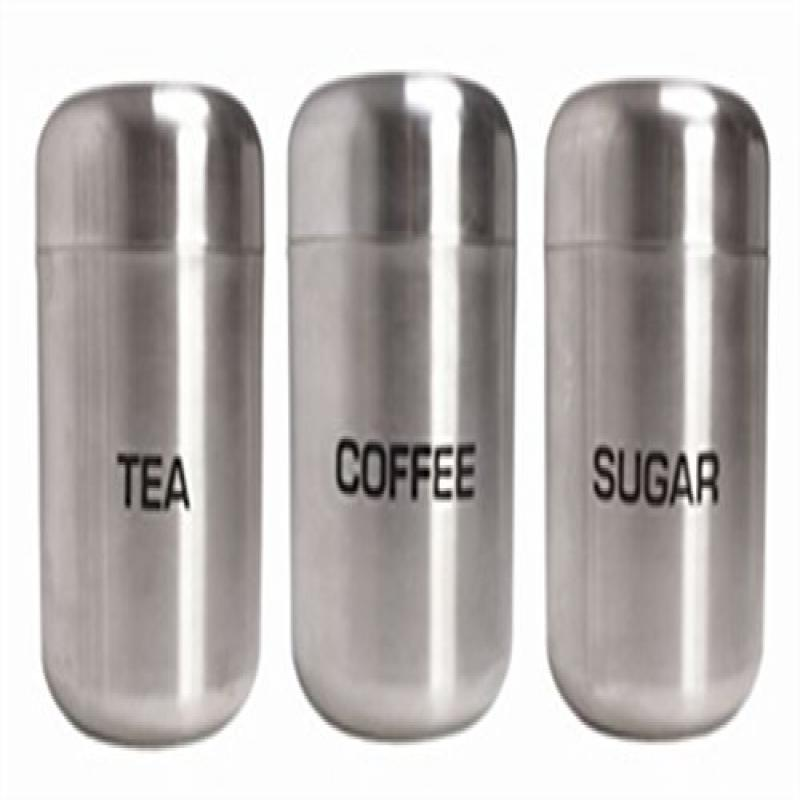 CPD Stainless Steel Kitchen Canister, Set Of 3