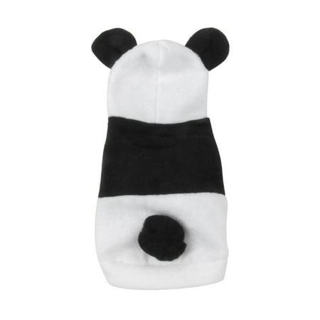 Unique Bargains Winter Hooded Press Stud Button Panda Type Pet Dog Doggie Coat Jacket Size (Type Dog)