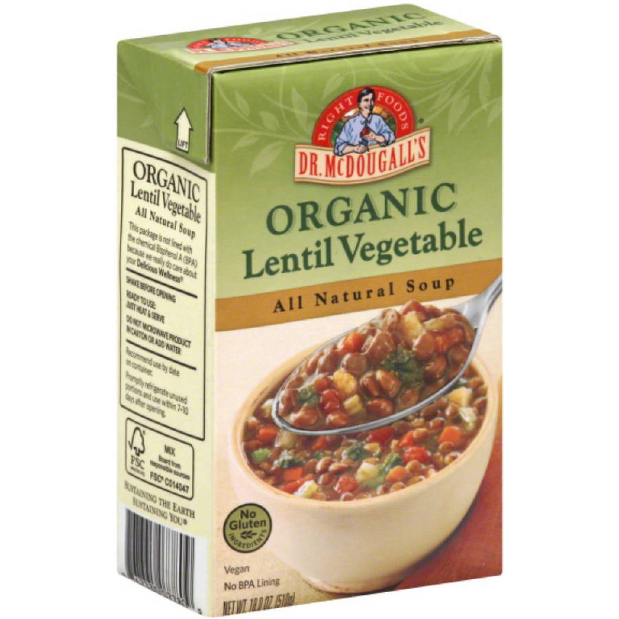 Dr. McDougall's Organic Lentil Vegetable Soup, 18 oz by