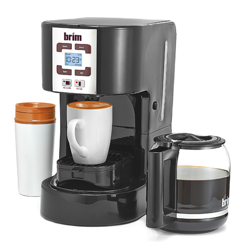 BRIM 50001 Size Wise Programmable Coffee Station, Black
