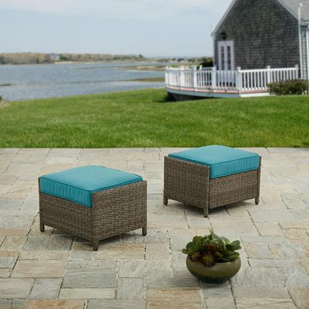Better Homes And Garden Mayers Bay 2 Piece Outdoor Ottomans