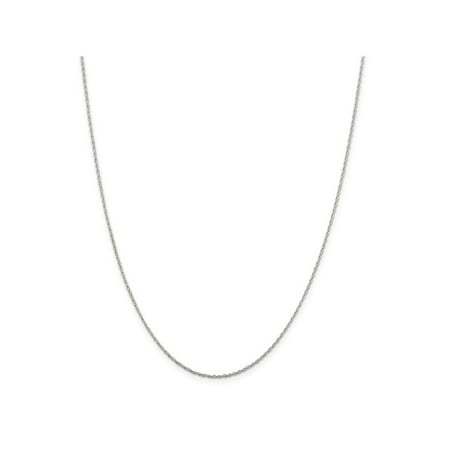 30 Inch Sterling Silver 1.25 mm Loose Rope Pendant Chain Necklace - 30 (30 Inch Pendant)