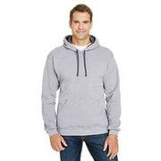 Adult 7.2 oz. Sofspun Striped Hooded Sweatshirt
