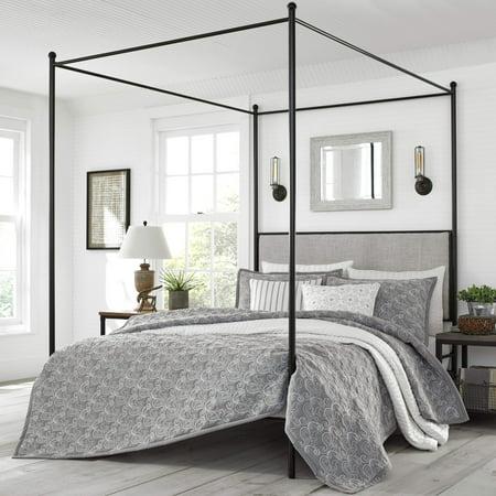 Stone Cottage Laurel Grey Quilt Set, Full/Queen ()