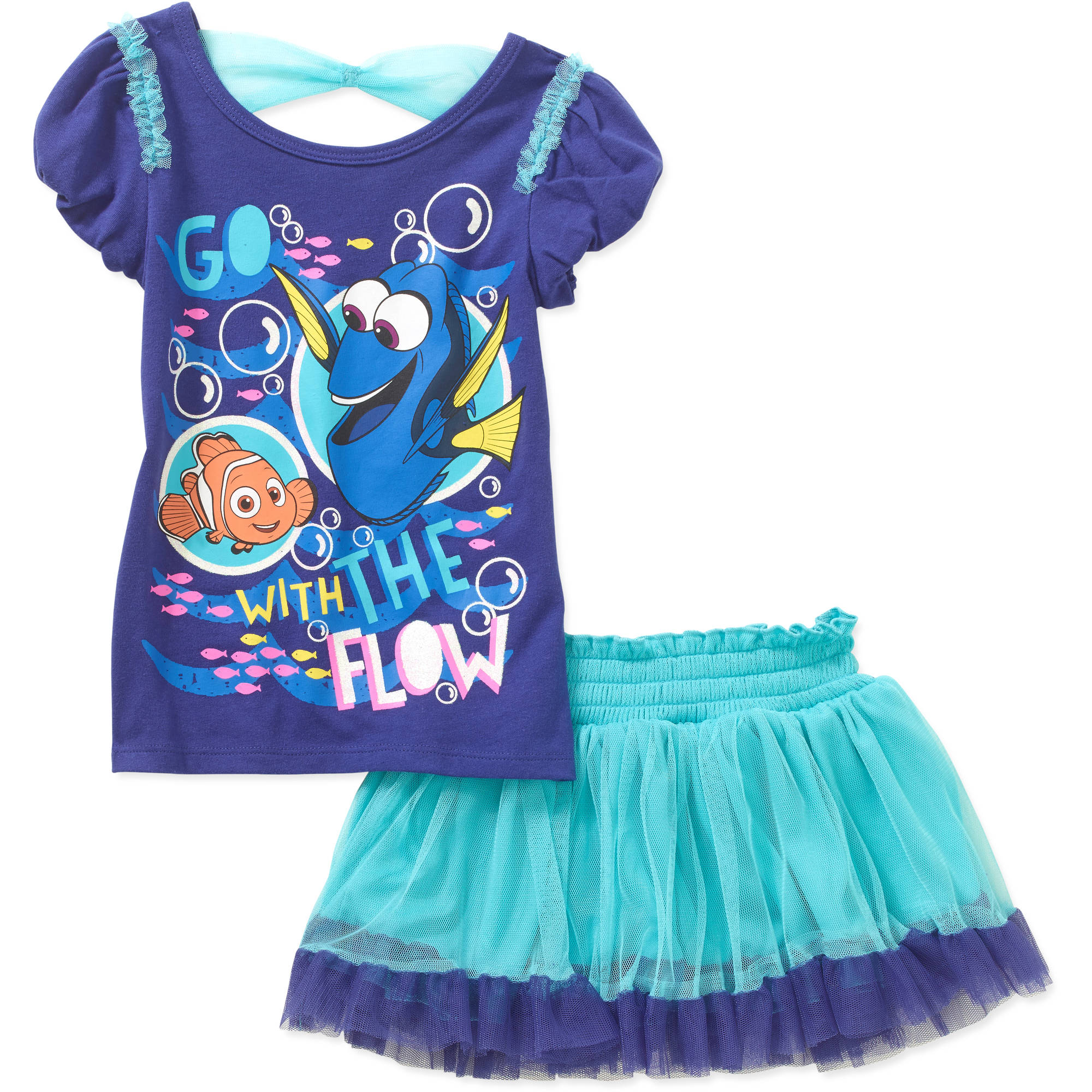 Finding Dory Toddler Girl Tee and Scooter Set