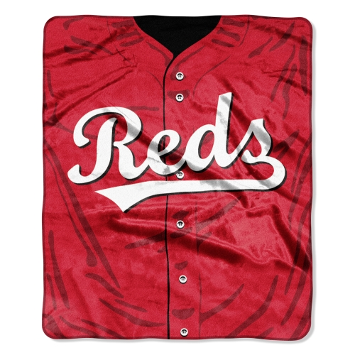 "Cincinnati Reds 50"" x 60"" Plush Jersey Blanket - No Size"