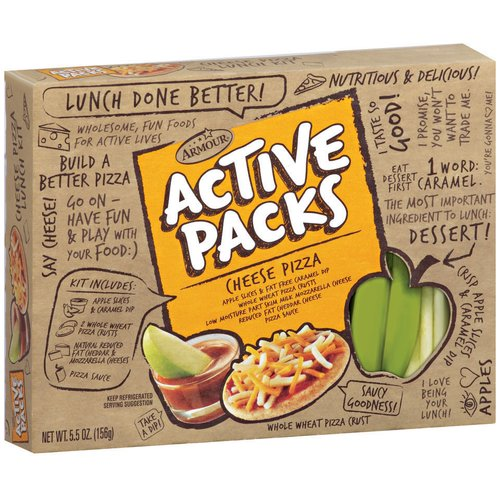 Armour Active Packs Cheese Pizza Wrap, 5.5 oz