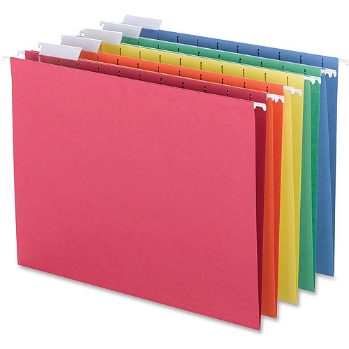Sparco 1/5-Cut Colored Hanging Folders
