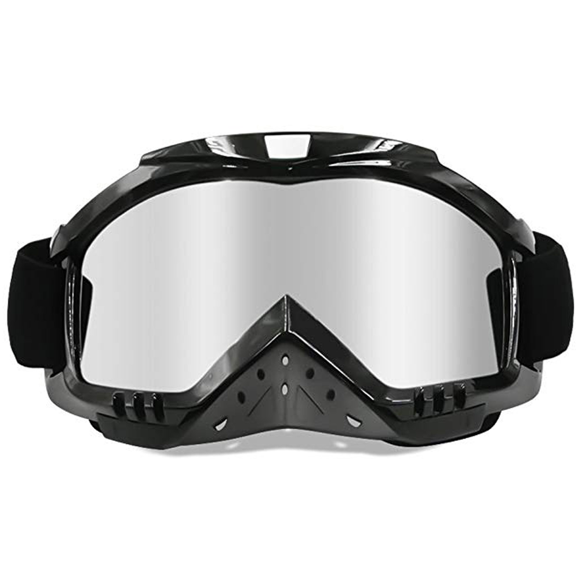 C.F.GOGGLE Motorcycle Goggles, Motocross Goggles Grip Helmet Windproof Dustproof Anti Fog Safety Glasses ATV Off Road Racing, Colorful Lens for Men & Women & Adults & Youth