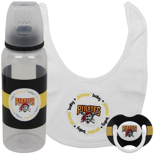 MLB Baby Fanatic Bib, Bottle & Pacifier Gift Set Multi-Colored