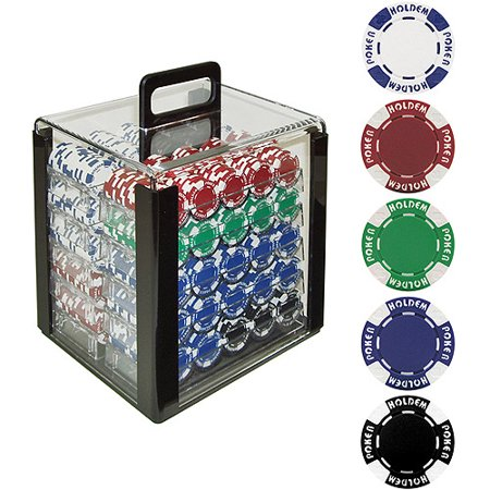 Trademark Poker 1000 11.5 Gram Holdem Poker Chip Set with Acrylic