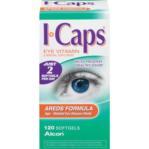 Alcon I-Caps Areds Formula Eye Vitamin & Mineral Supplement Softgels, 120ct