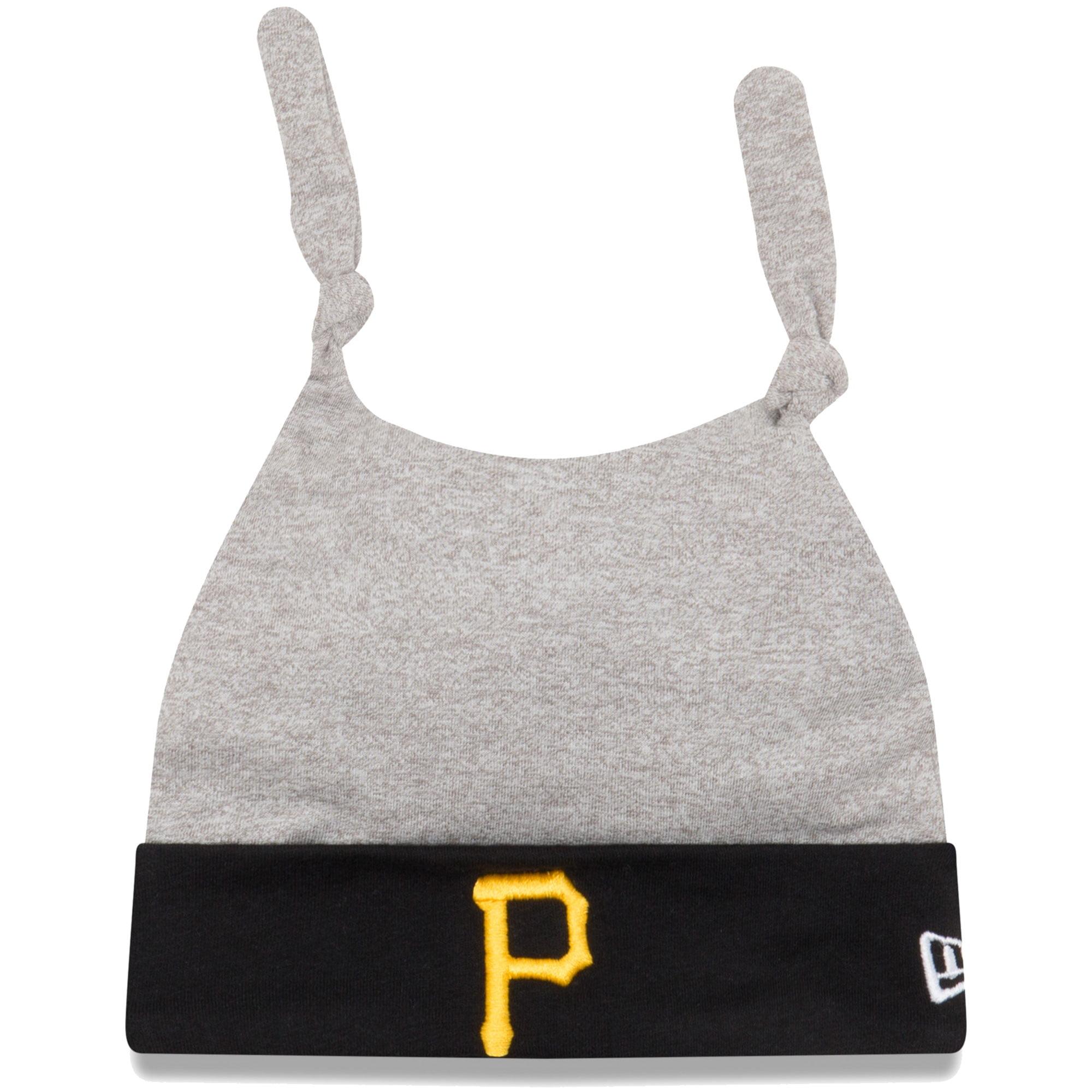 Pittsburgh Pirates New Era Newborn Speckle Tot Dub Cuffed Knit Hat - Gray/Black - OSFA