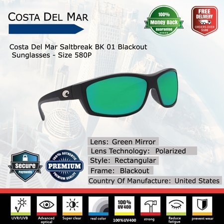 eedf478528e Costa Del Mar Saltbreak Blackout Sunglasses - Walmart.com