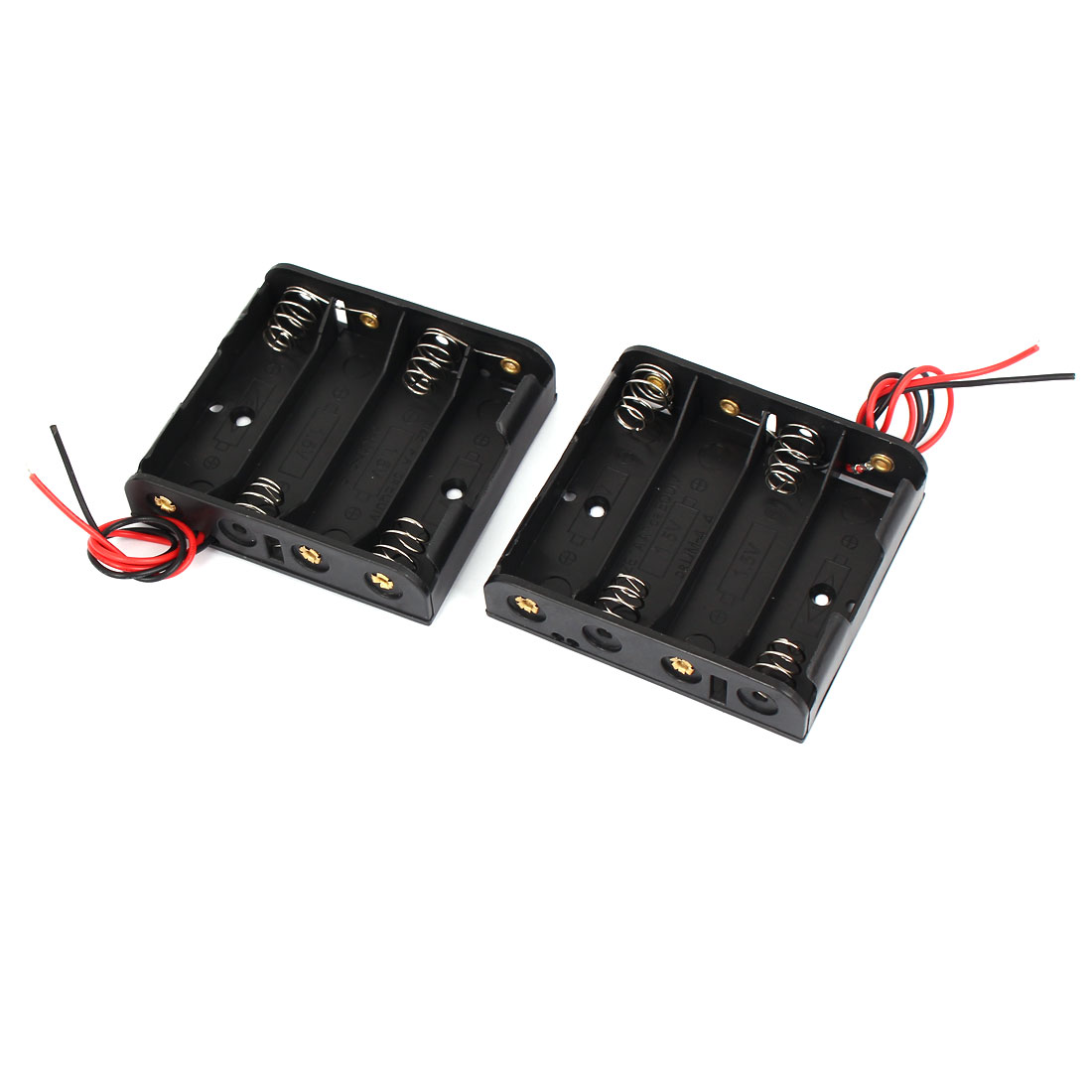 2x 1.5V AA Battery Holder Connector Storage Case Box w// ON//OFF Switch With Wire