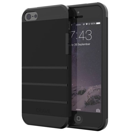 on sale 61272 10492 iPhone SE Case, iPhone 5s Case, Strong Guard Protection Series Case for  iPhone 5 5s SE - Black