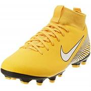 Nike Jr. Mercurial Superfly VI Academy Neymar Soccer Cleat (1.5y, amarillo/whitee/black)