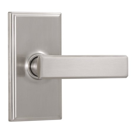 Weslock 3710P Utica Privacy Door Lever Set with Woodward Rose from the Elegance - Weslock Utica Satin