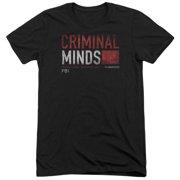 Criminal Minds Title Card Mens Tri-Blend Short Sleeve Shirt