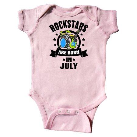 Rockstars are Born in July Birthday Infant - Birthday Rockstar