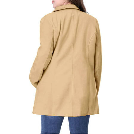 Women's Plus Size Notched Lapel Double Breasted Winter Coat