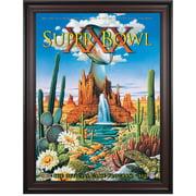 "1996 Cowboys vs Steelers 36"" x 48"" Framed Canvas Super Bowl XXX Program"