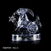 Coerni 3D Crystal Puzzle Jig-saw Clear Twelve 12 Constellation Astrolog Flash LED Light