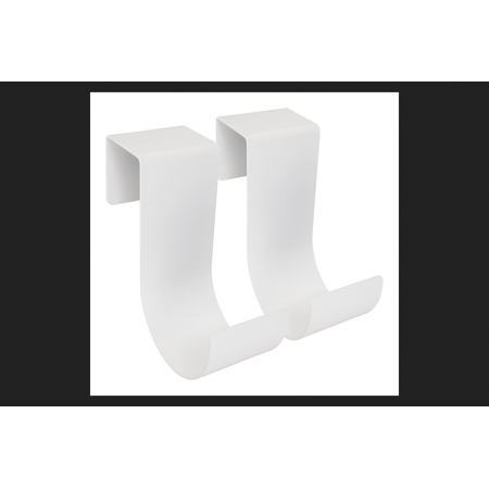 Mide Products Short Fence Mount Hook 6 in. L Aluminum White 25 lb. 2 pk - Fence Hooks