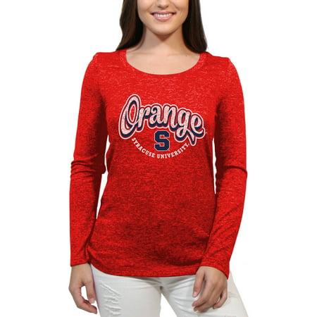 Syracuse Orange Funky Script Women'S/Juniors Team Long Sleeve Scoop Neck Shirt