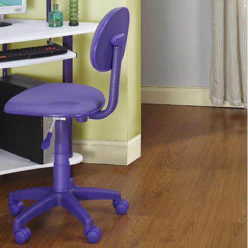 Kids Computer Desk Chair Color: Purple