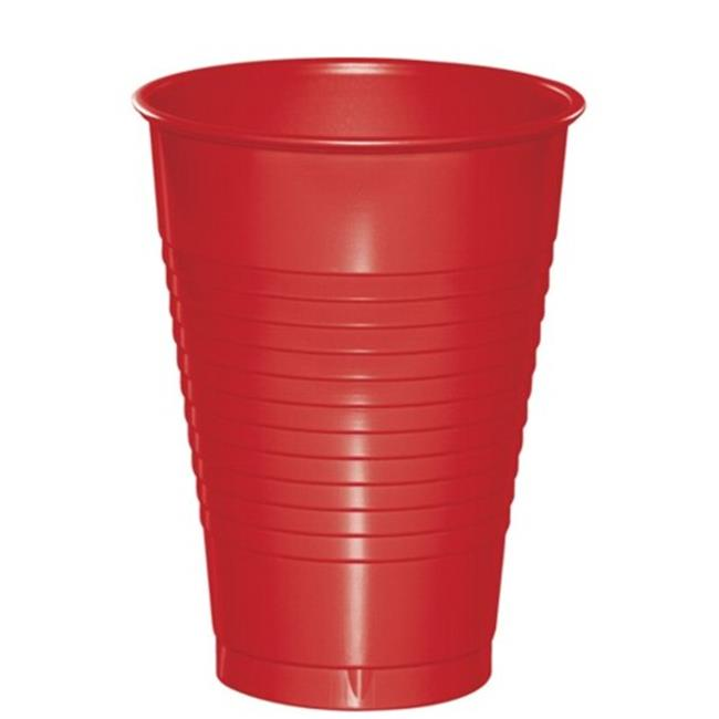 Hoffmaster Group 28103171 12 oz Plastic Cups, Classic Red - 20 per Case - Case of 12